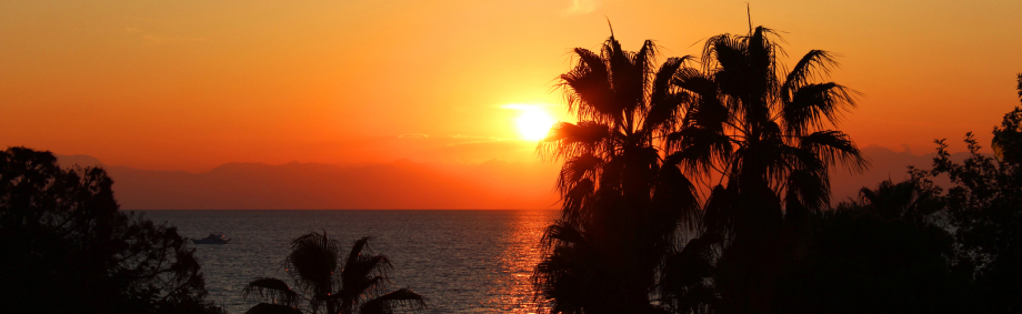 Sonnenuntergang - Blick vom Balkon Zimmer 2115