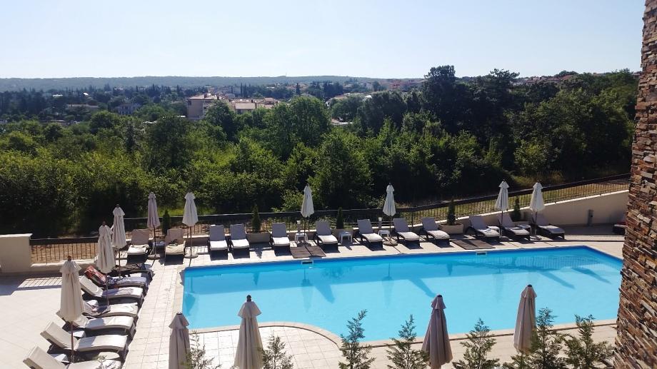 Hotelpool - Blick von unserem Balkon aus