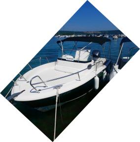 Unser Boot mit 200 PS
