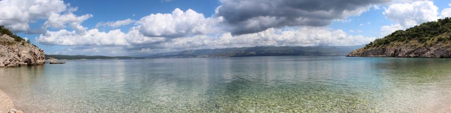 Panorama vom Strand von Potovošće