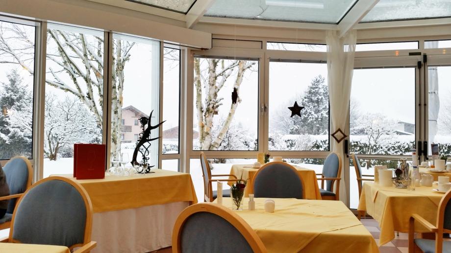Diner im Wintergarten