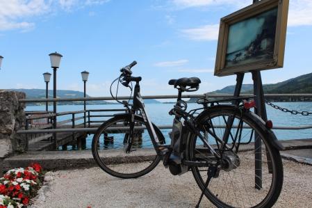 Start der Radtour vor dem Hotel Post