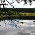 Wanderung in den Bergen um den Lipno-Stausee - kleiner Teich