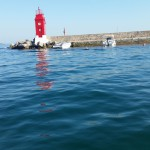 Zugang zum Hafen von Krk Stadt