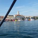 Im Hafen von Krk Stadt
